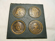 1931 Rare French Colonial Exhibition 4 Medals Set American Indian