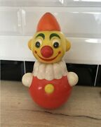Children's Toy Soviet Roly-poly Musical Clown Russian Ussr Vintage