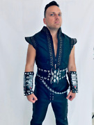 Аres From Xena Cosplay Costume - Vest Belts With Ornaments Wristbands