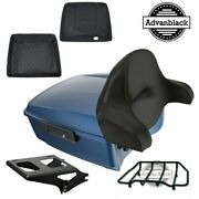Advanblack Dark Blue Pearl King Tour Pack For Harley Davidson Touring 1997-2020