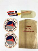 Vintage 2- Eastern Airline Luggage Decals And Eastern Airlines Air Mail Stickers
