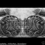Victorian Style 4.82cts Genuine Old Mine Rose Cut Diamond Silver Earring Jewelry