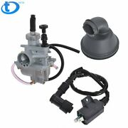Carburetor Intake Boot Rubber Cleaner And Ignition Coil For Suzuki Lt-80 1987-2006