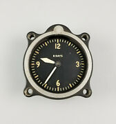 Vintage Lecoultre A-7 Military 8 Day Aircraft Cockpit Clock Andndash Cal 201m Longines