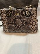 Kate Spade New York Quilted Maryanne Snakeskin Handbag With Dust Bag Rto 378