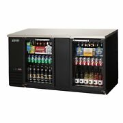 Everest Ebb69g-24 68 Two Section Back Bar Cooler With Glass Door 20.0 Cu. Ft.