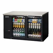 Everest Ebb59g-24 57 Two Section Back Bar Cooler With Glass Door 17.0 Cu. Ft.