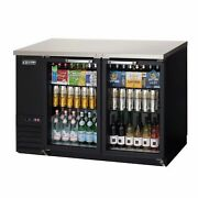 Everest Ebb48g 49 Two Section Back Bar Cooler With Glass Door 14.0 Cu. Ft.