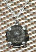 Authentic Ancient Coin Of Egypt Queen Cleopatra 925 Silver Pendant And Necklace