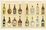 1920and039s-1930and039s Eugene Vincent And Co. Liqueur Advertisement Alcohol Bottles Vinta