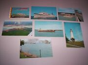 S.s. Milwaukee Clipper Souvenir Booklet And 6 - 1960and039s Michigan Postcards
