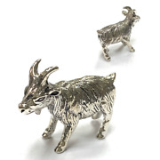 Collectable Victorian Style Goat Figurine 925 Sterling Silver