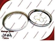 2x Royal Enfield Bullet Head Light Rim With W Shaped Clip