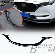 2017-2020 For Mazda Cx-5 Glossy Black Front Grill Barbecue Side Strip Cover Trim