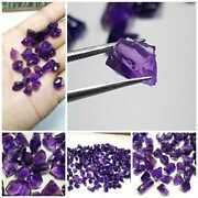 100 Natural Purple African Amethyst Cut And Cabochon Rough Lot Wholesale Gemstone
