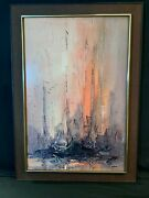 Tall Masts By Danny Garcia Beautifully Framed 1960's Print - Famous Painting