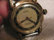 Vintage Recta German Military Wristwatch 10krgp Runs