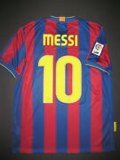 2009-2010 Nike Authentic Fc Barcelona Lionel Messi Argentina Jersey Shirt Kit