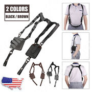 Leather Anti-theft Hidden Underarm Holster Style Shoulder Wallet Phone Bags Hold
