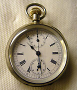 Vintage Chrono-micrometer Silver Pocket Watch Late 1800's