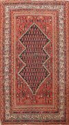 Antique Vegetable Dye Geometric Malayer Area Rug Hand-knotted Wool Carpet 3x5