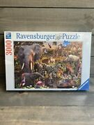 Ravensburger 3000 Piece Puzzle African Animal World New Factory Sealed 48x32