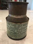 Amazing Rare 1890and039s Antique The Snow Flake Axle Grease Tin Can Bucket Gas And Oil