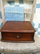 Small Antique Wood Watchmakerand039s Watch Glass Cabinet