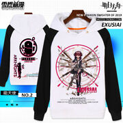 Hot Anime Arknights Exusiai Hoodie Casual Fashion Sweater Coat Unisex Cosplay