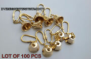 Vintage Brass Bell Key Chain Ring Lot Of 100 Pcs Collectible Golden Finish Gift