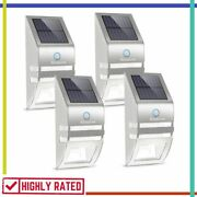 Solar Deck Lights Wireless Led Security Light Fence Lighting Outdoor By Roopure