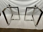"""Crime Stainless Still Trapezoid Table Trestle Legs28""""x28""""x16"""""""