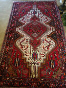 Antique Middle Eastern Baktian Rug - Multi-colored