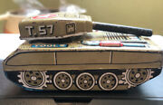 Vintage Haji T 57 Tin Friction Litho Toy Tank Great Pre-owned Condition