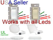 Toggle Switch Dimmer Light Single Pole 3way Ul Led Recessed Ceiling Light