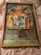 Vintage 1950's Bagatelle Mickey's Haunted House Disney Pinball Game