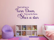 And039donand039t Tell Her To Turn Down...and039 Family Wall Sticker Quote Modern Transfer Vinyl