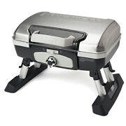 Cuisinart Petit Gourmet Tabletop Outdoor Camping Tailgating Stainless Gas Grill