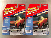 Johnny Lightning 1969 Dodge Charger R/t Silver Paint Lot Of 2 2017 Release 1