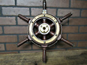 Vintage Antique Rare Yacht Steering Wheel Boat Ship's Wheel Authentic 17