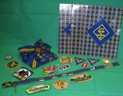 Huge Lot Of Vintage Cub Scout Patches, Belt, Badges, Scarf And Much More
