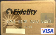 Gold Fidelity Investments Visa Credit Card - Expired 2012