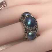 Rare Find New Zealand Eyris Pearls Ring - 14k White Gold Custom Made - Size 9