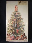 Advent Calendar Victorian Christmas Tree 13x23 Die Cut Old Print Factory Repro A