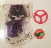 Teen Titans Raven Happy Meal Toy With Robin Propeller Part And Beast Boy Disc