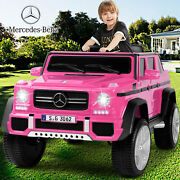 Electric Mercedes-benz 12v Kid Battery Ride On Car Toy Mp3usb Remotecontrol Pink