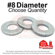 8 Sae Flat Washers Low Carbon Steel Zinc Plated Pick Quantity