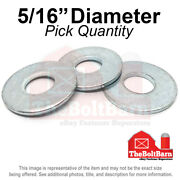 5/16 Uss Flat Washers Low Carbon Steel Zinc Plated Pick Quantity