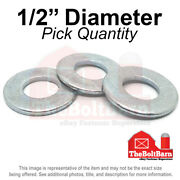1/2 Sae Flat Washers Low Carbon Steel Zinc Plated Pick Quantity