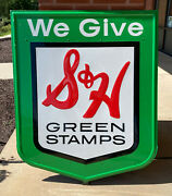We Give Sandh Green Stamps Metal Sign / Excellen